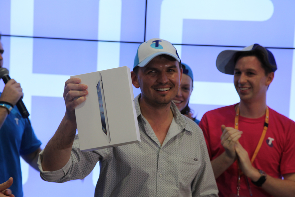 First new iPad sold