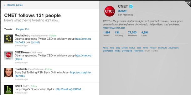 A look at the updates from some of the people CNET is following on Twitter.