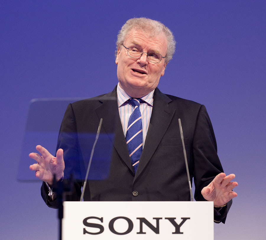 Sony's former Chief Executive Howard Stringer speaking at IFA in 2011.