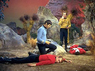 When you're wearing a red shirt on an away mission with your superior officers, don't expect to move up the corporate ladder anytime soon.