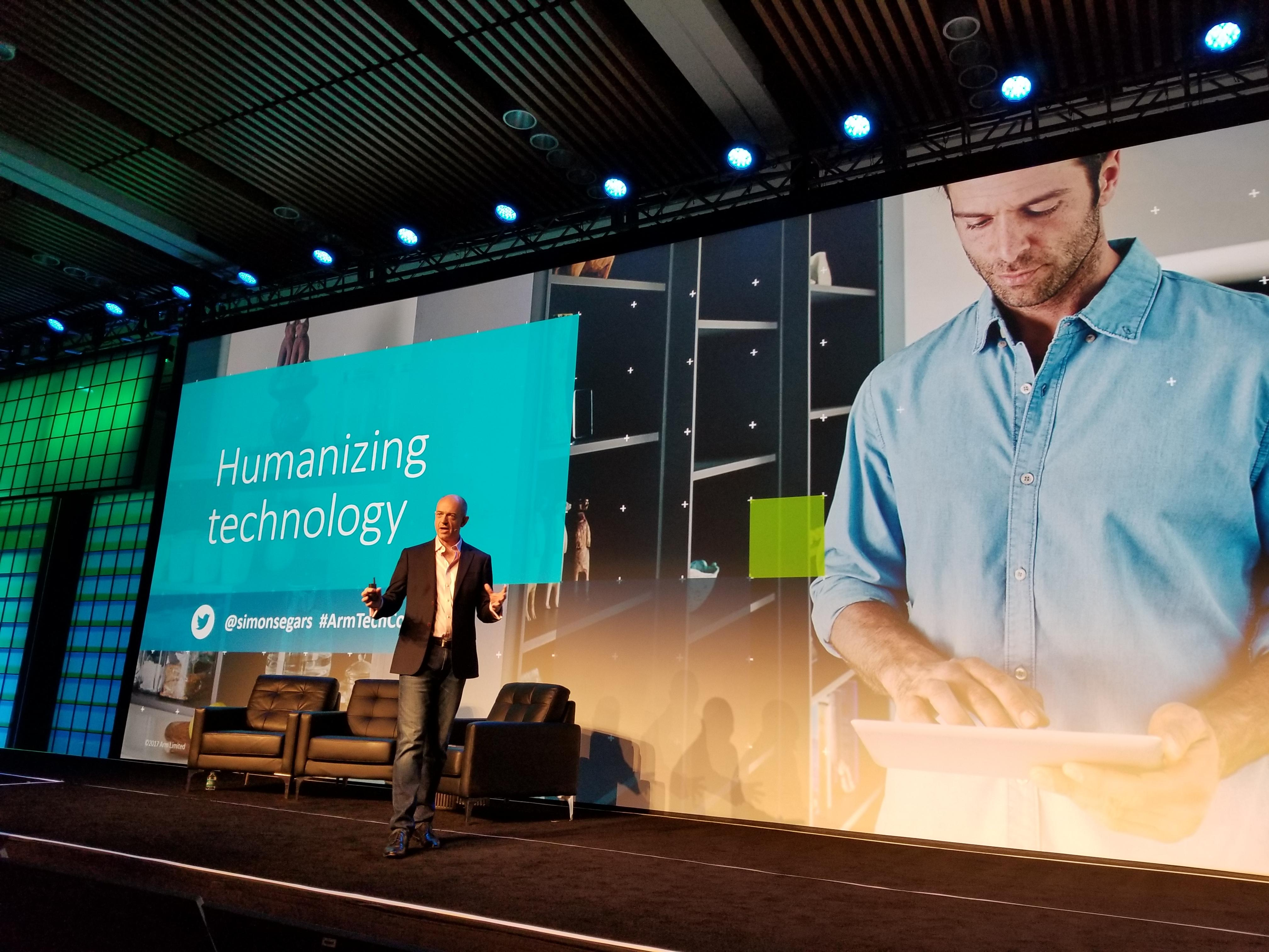<p>ARM CEO Simon Segars says cybersecurity is a major issue for artificial intelligence and the Internet of Things.</p>