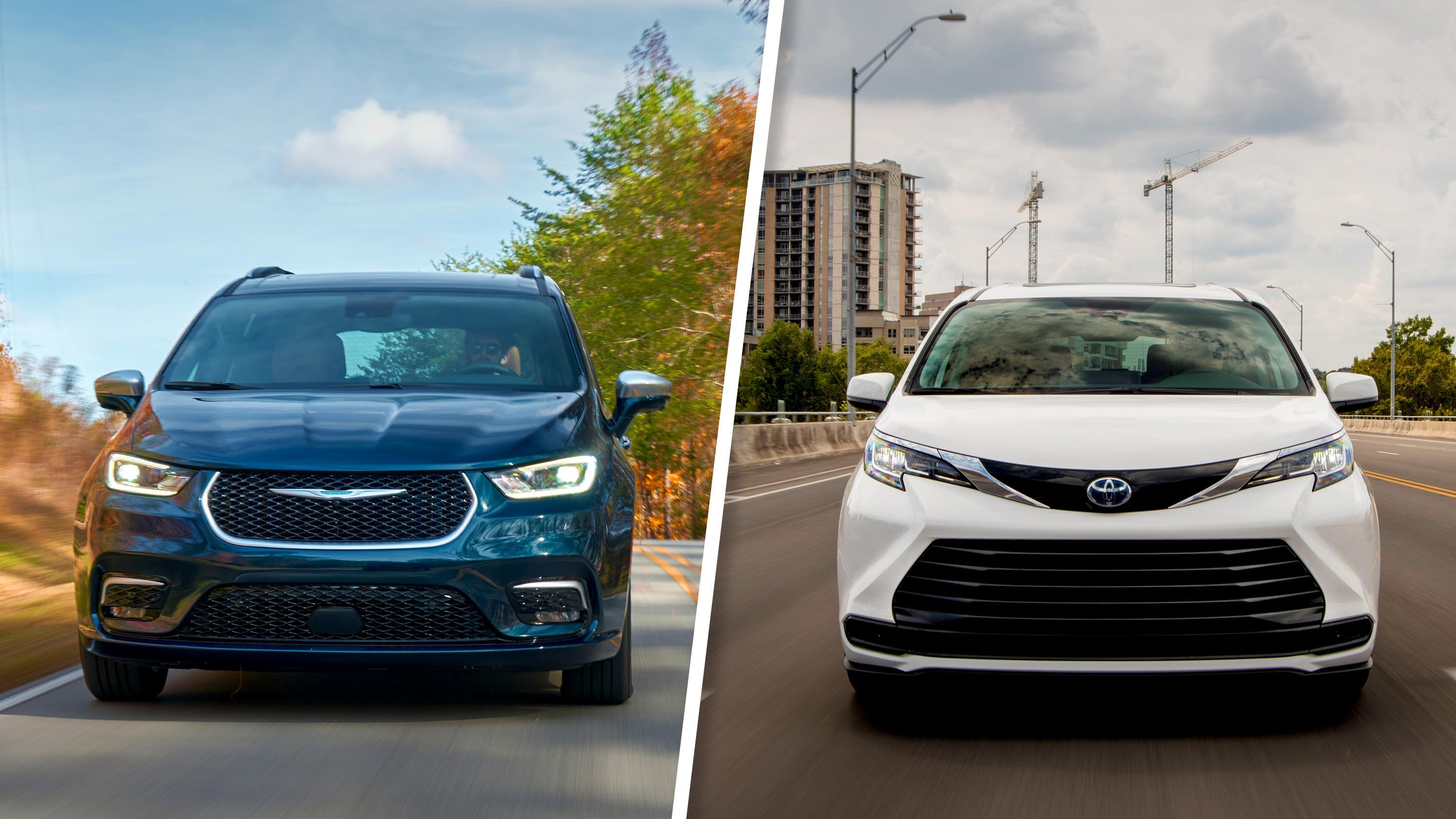 Video: Minivan duel: 2021 Toyota Sienna vs. Chrysler Pacifica