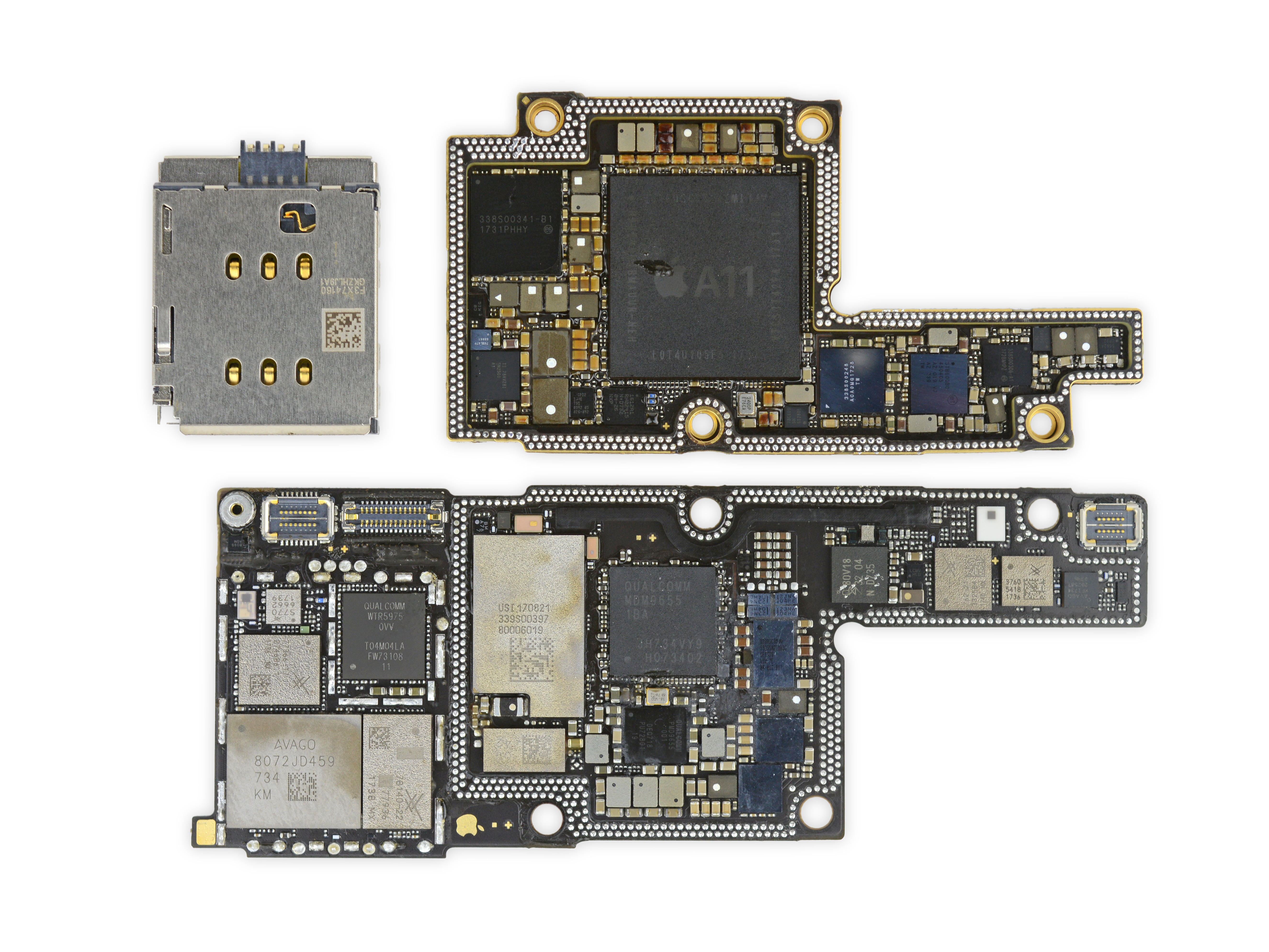 ifixit-stacked-iphone-x-motherboard