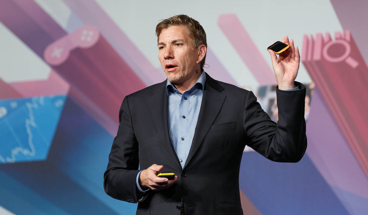 Mozilla CEO Gary Kovacs speaking at Mobile World Congress 2013