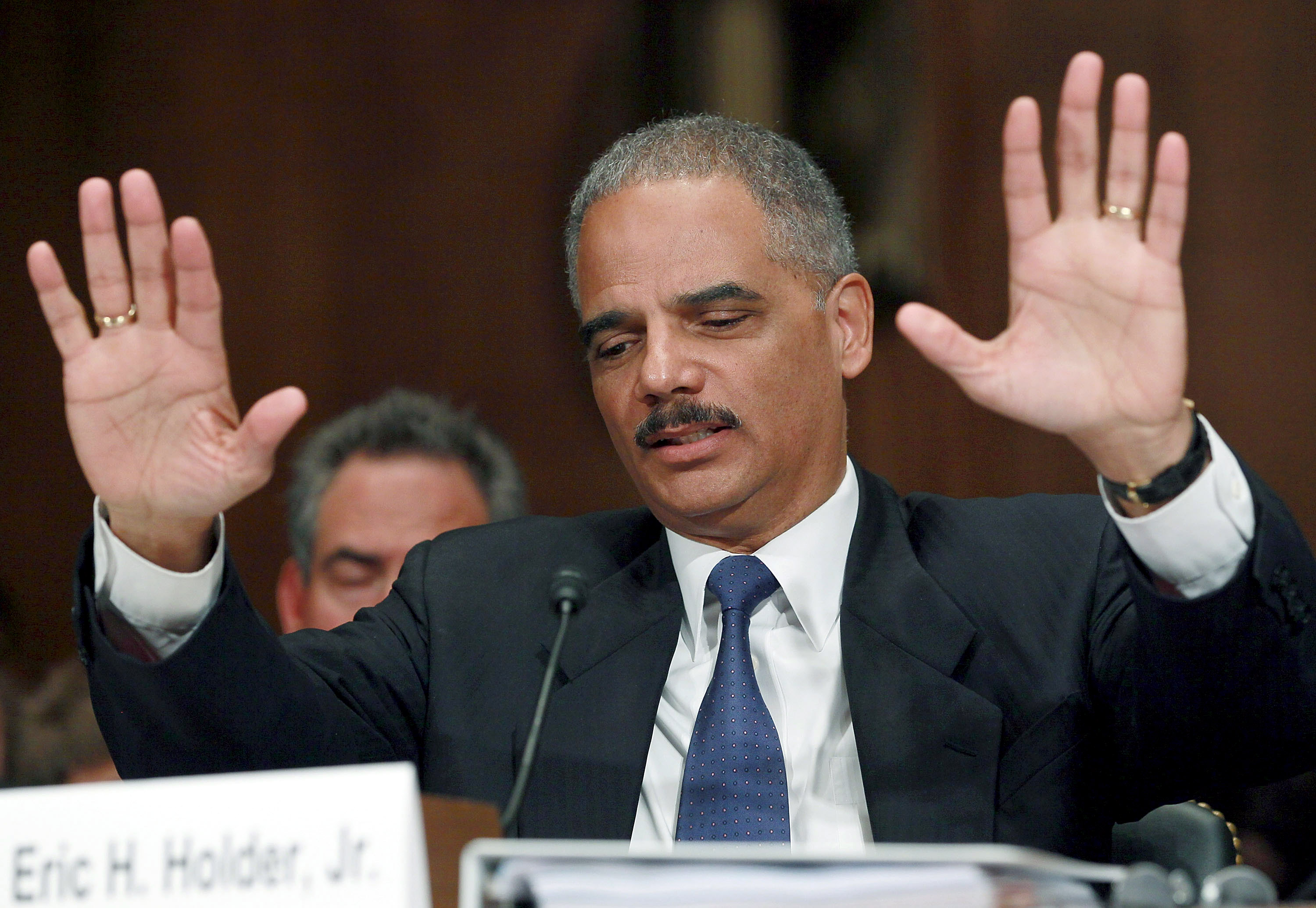 Attorney General Eric Holder, who has not lifted a gag order on Internet companies.