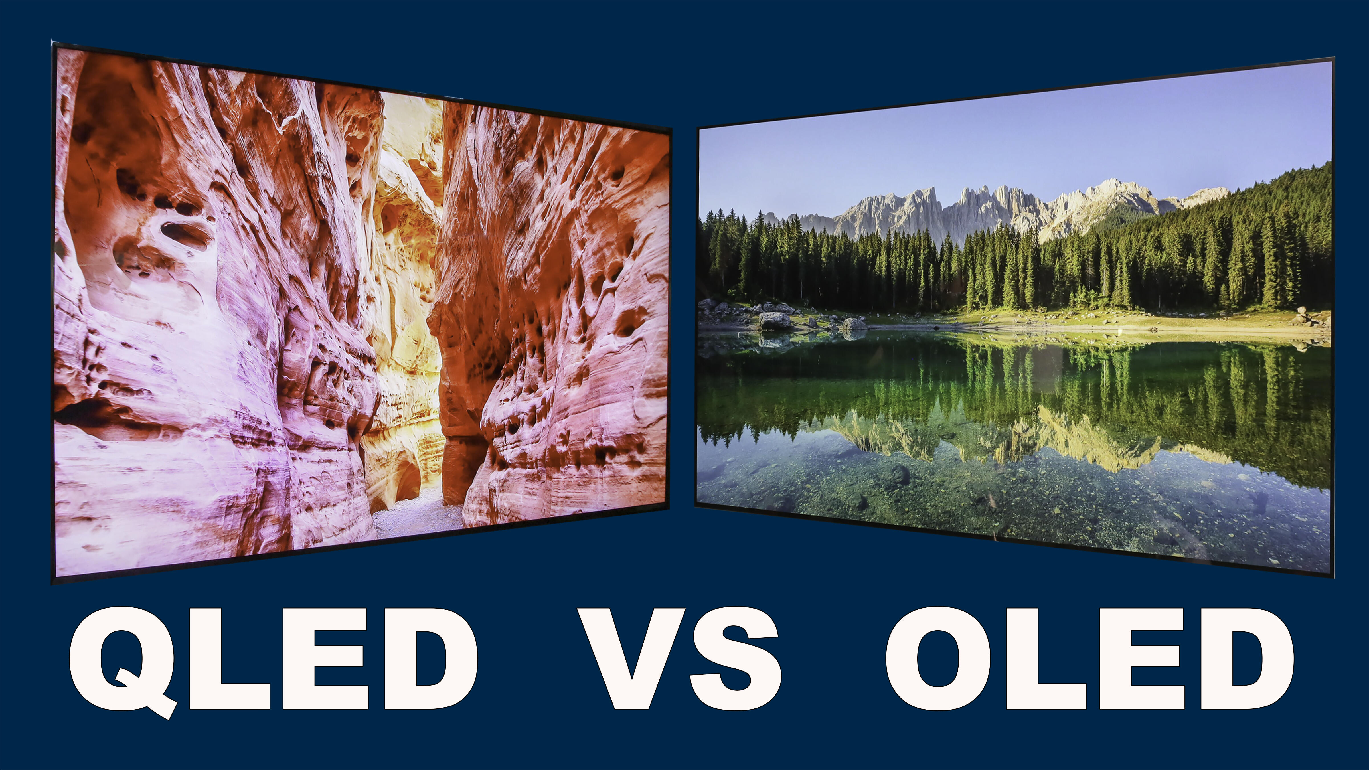 QLED vs. OLED TVs: What's the difference anyway?
