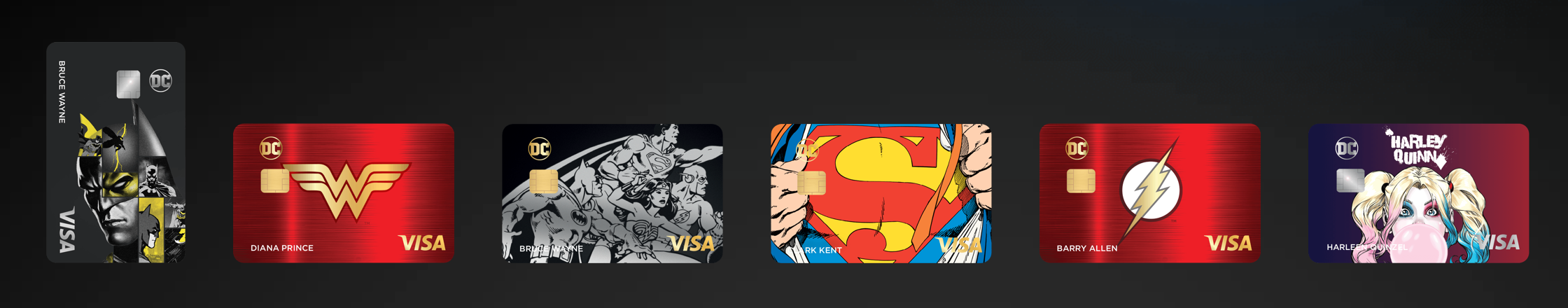 DC Universe credit cards