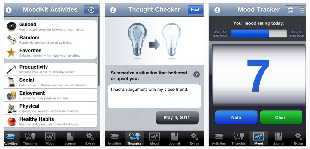 Having a bad day? MoodKit might be able to help. It's like having your own portable psychologist.