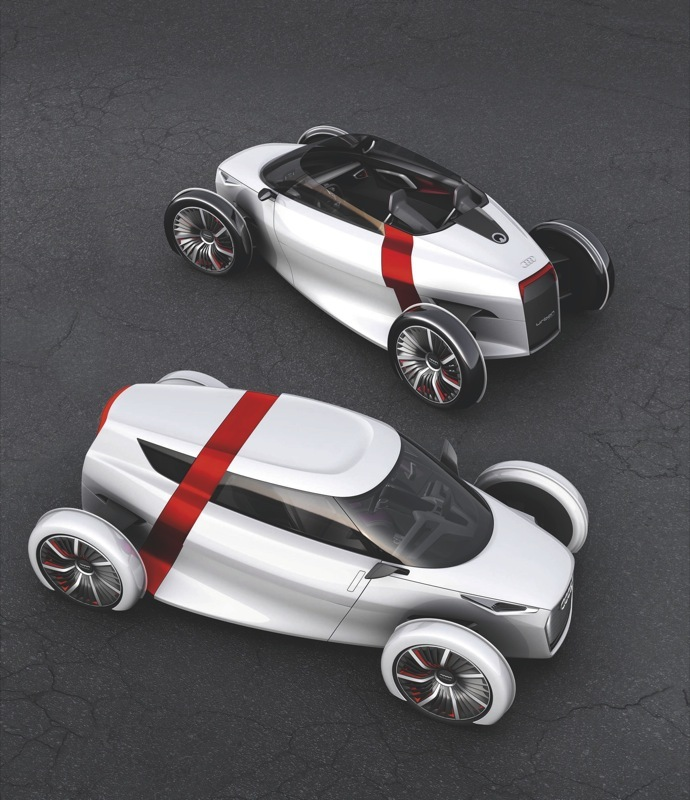 The Audi Urban Concept Coupe and Spyder