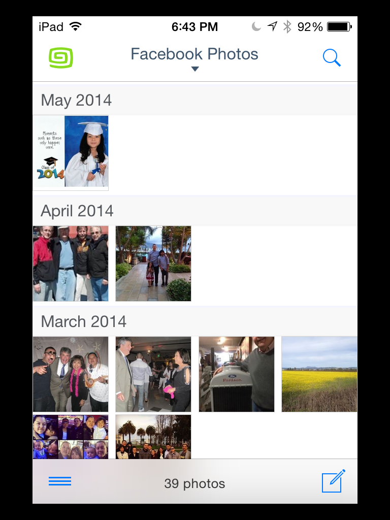 Gusto view of your Facebook photos