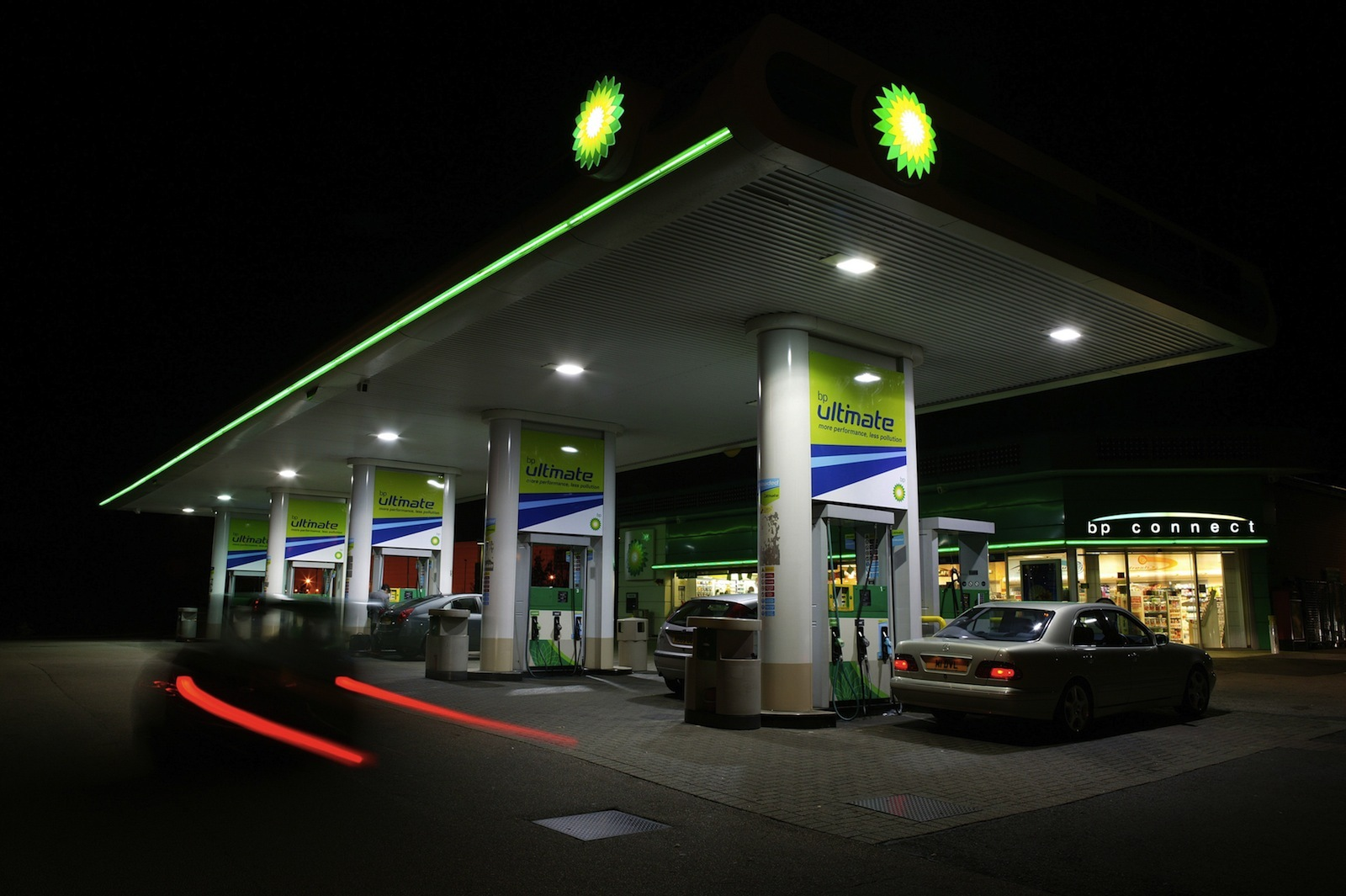 A BP gas station in the UK.