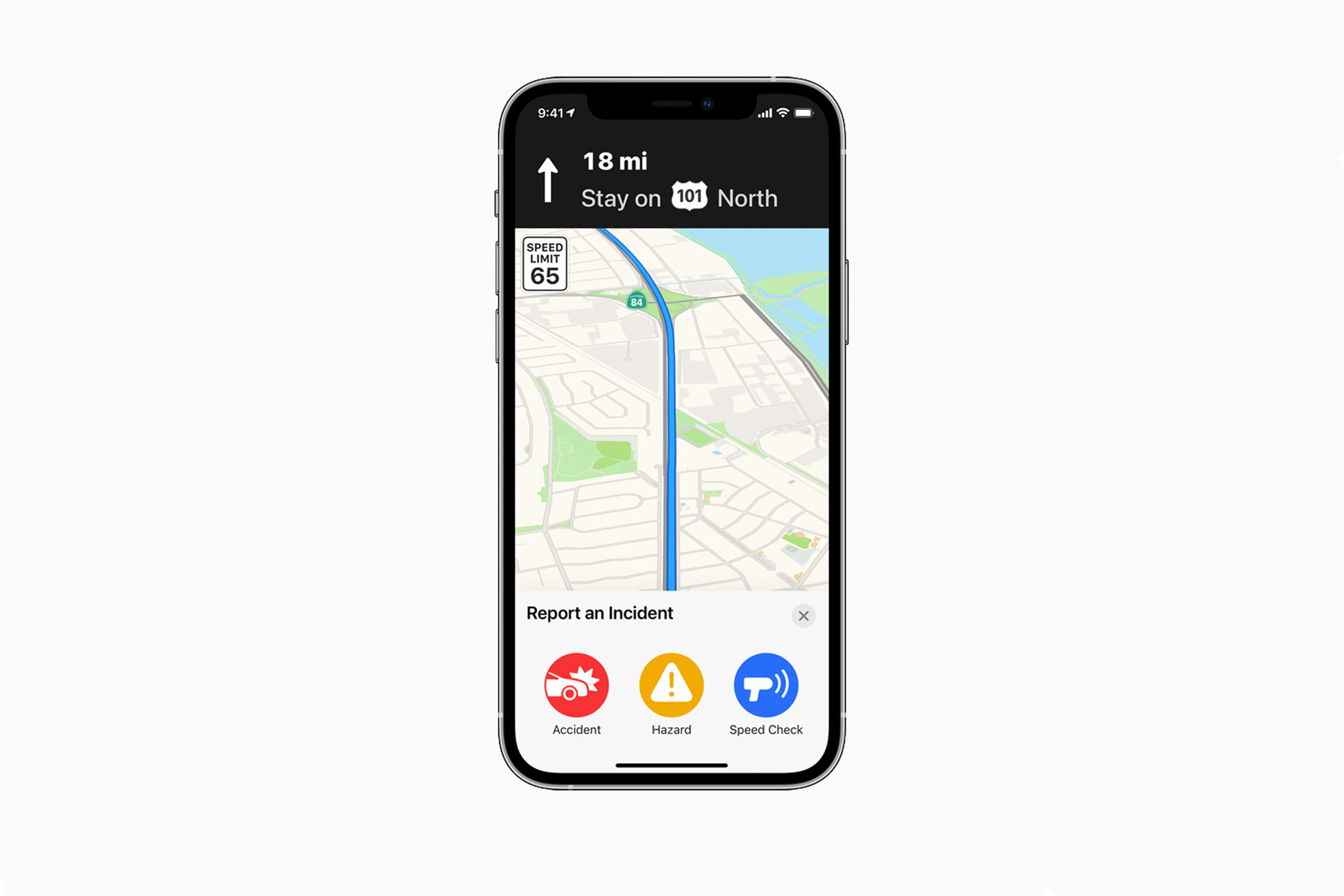 Apple Maps incident reporting