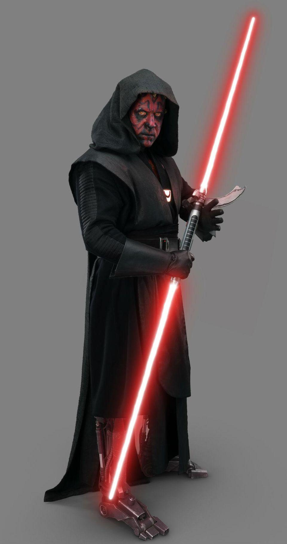 In Solo, Maul is seen, in a hologram, with the same lightsaber he'll later use in Rebels.
