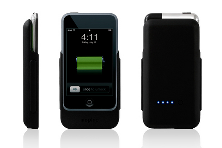 Photo of Mophie Juice Pack extended battery for the Apple iPod Touch.