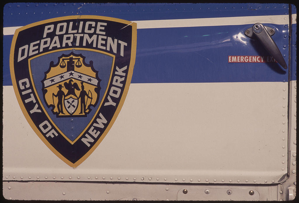 NYPD Insignia on Side of Helicopter
