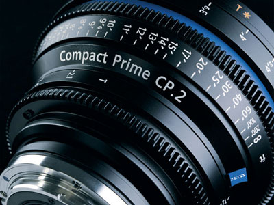 Carl Zeiss's CP.2 lenses are finely calibrated for a variety of focus points.
