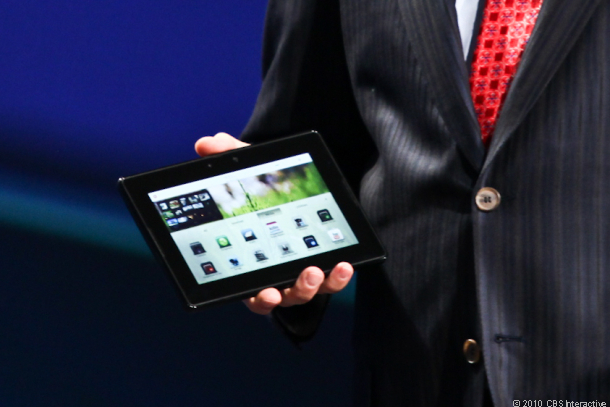 RIM's BlackBerry PlayBook will also run Android 2.3 apps.