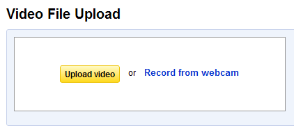 The upload button.
