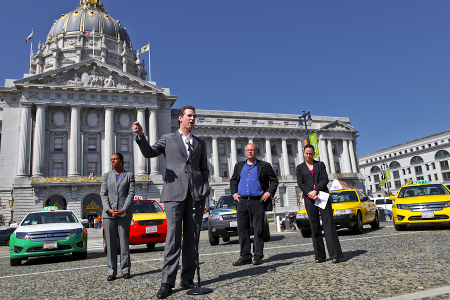 Newsom said that there are benefits to cab companies' bottom lines. The green cars require fewer brake repairs, he said. While standard gas powered cabs need brakes almost once a month, green cabs require brake repair just every 6-8 months.