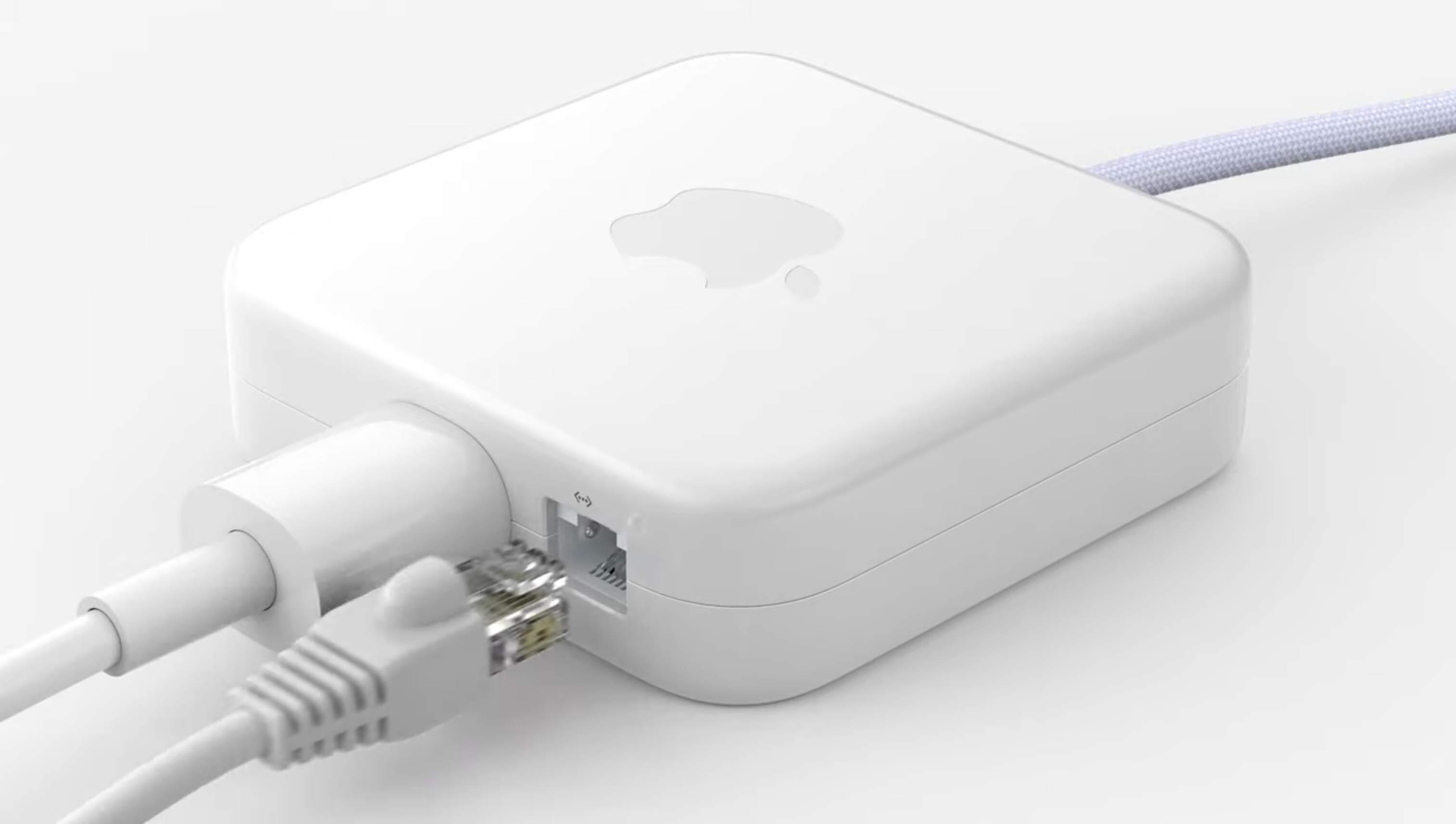 iMac power adapter with Ethernet port
