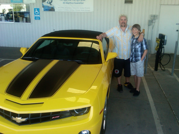 Guy Fieri posted a photo on Twitter of his new 2011 Camaro Convertible SS.