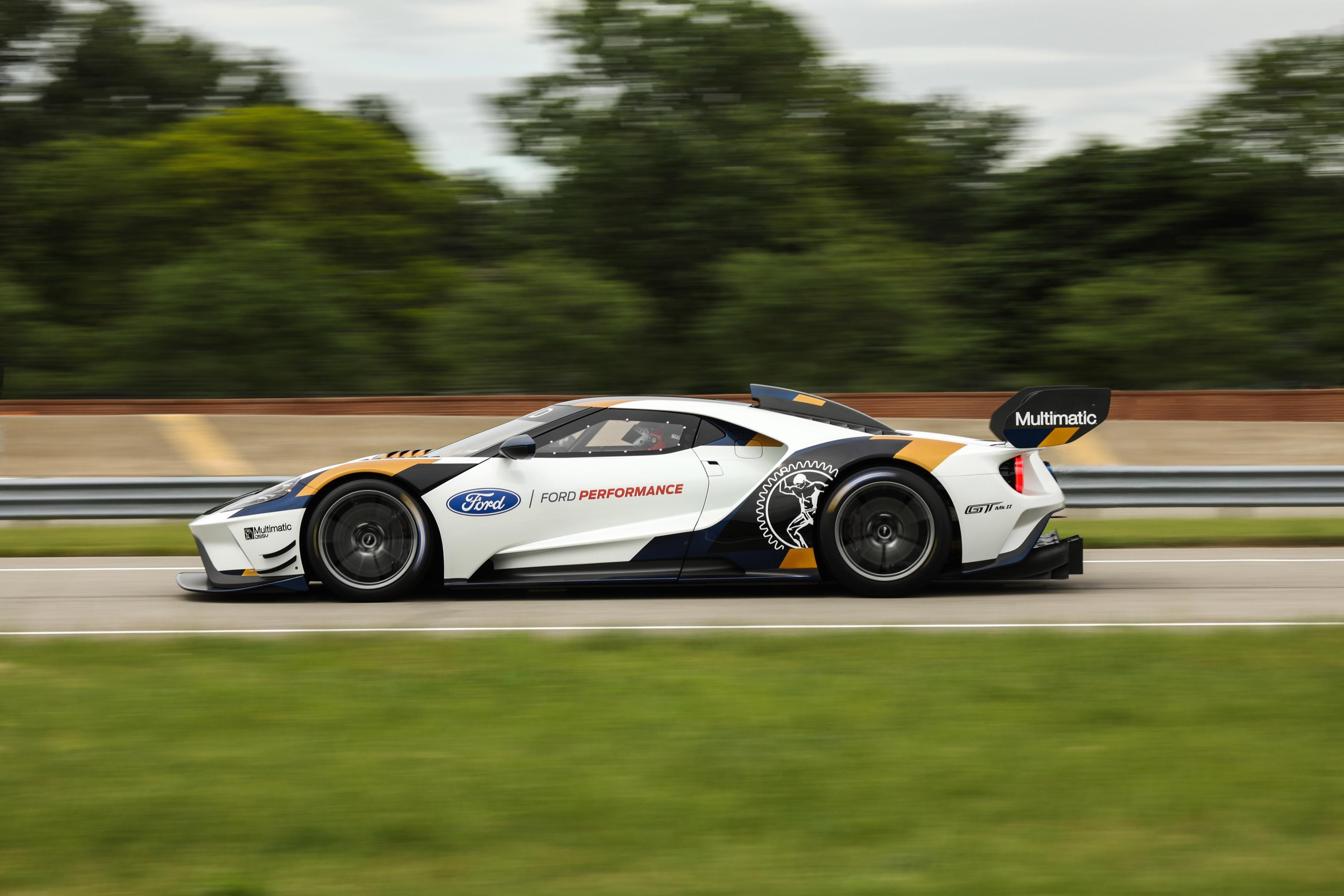 Ford GT Mk II at speed