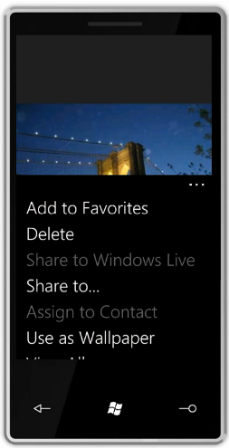 Picture sharing options