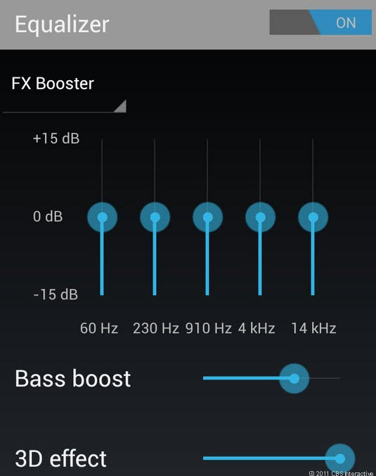 Google Music is the new Ice Cream Sandwich music app. And yes, there's an equalizer.