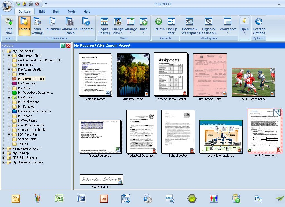 Nuance PaperPort 14 makes for easy document and photo management.