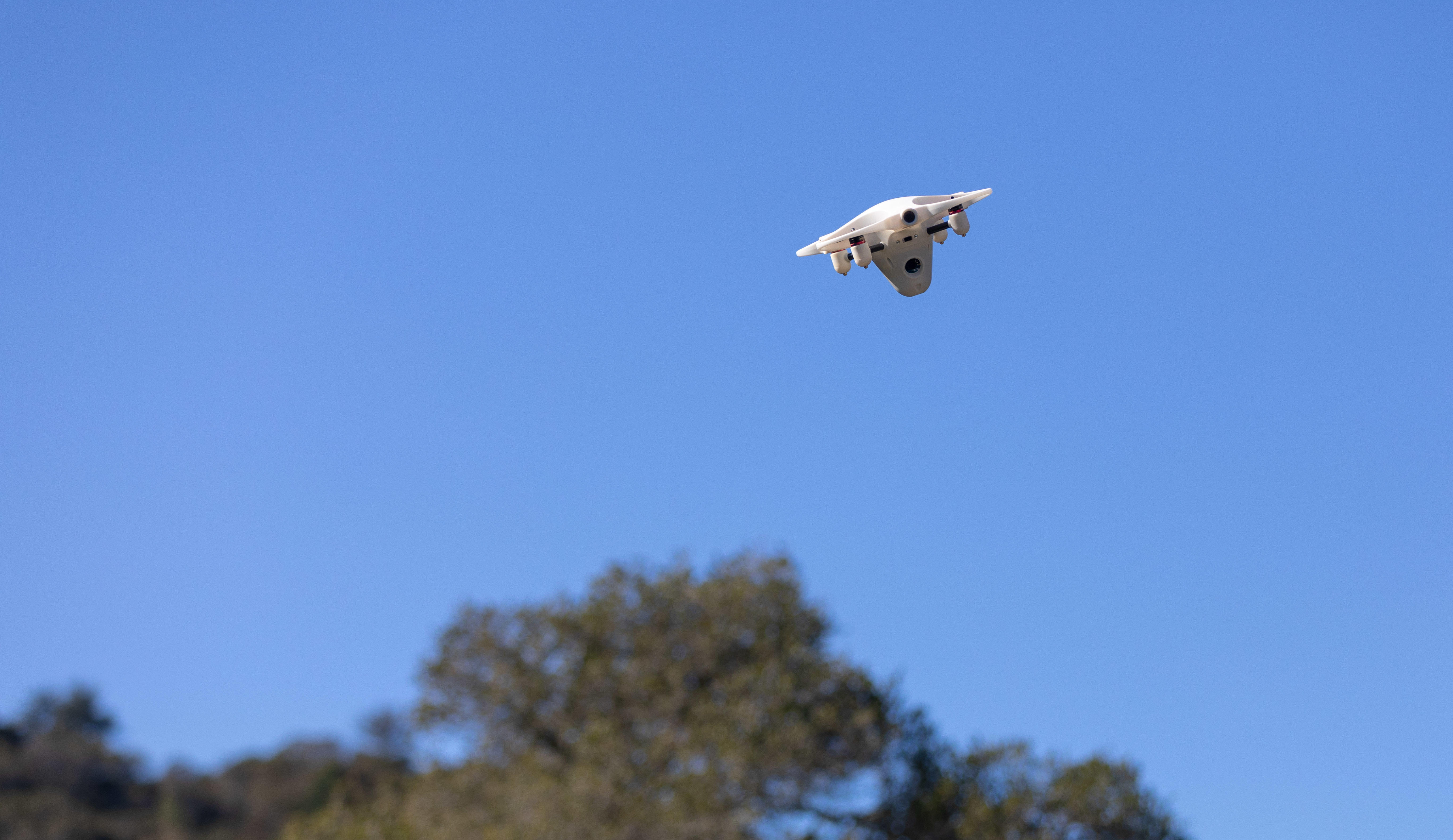 The Sunflower Labs drone can be set to sweep your property, following a preset course.