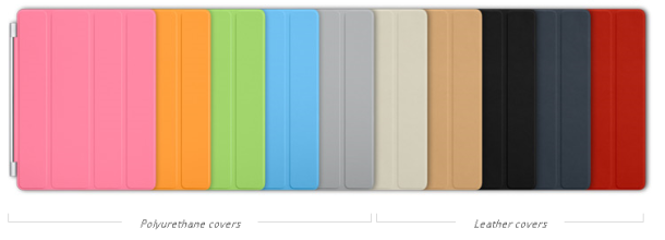Apple's 2011 Smart Cover lineup.