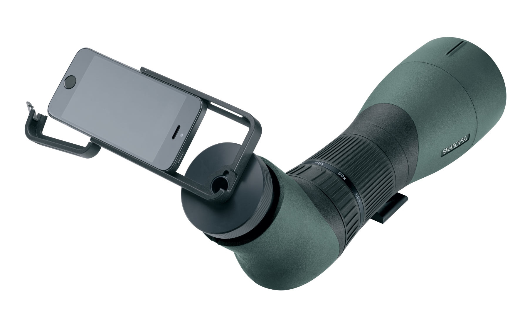 The Swarovski PA-i5 adapter also lets you attach an iPhone 5 or 5s to a Swarovski spotting scope.