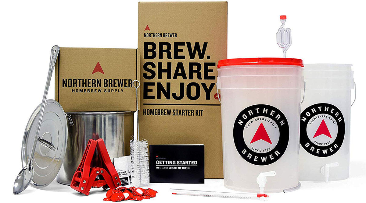 This all-in-one beer brewing kit ($100)