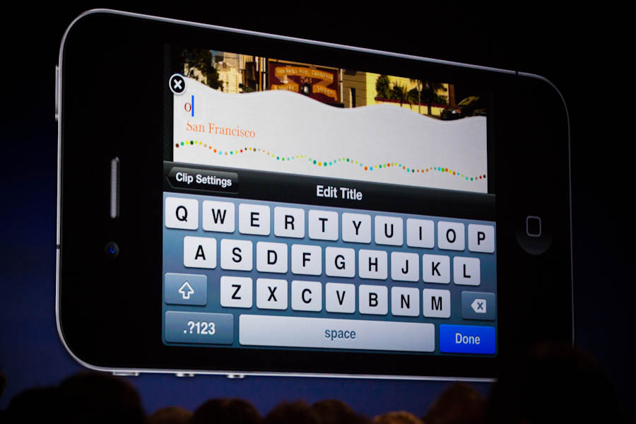 Video-editing on the iPhone 4