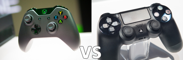 Xbox vs. PS4 controllers