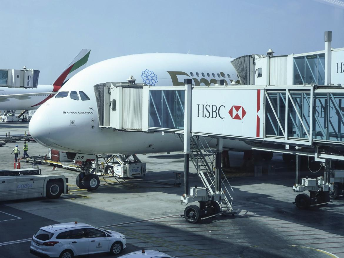 It's been one of those days. An Emirates passenger jet takes a coffee break.