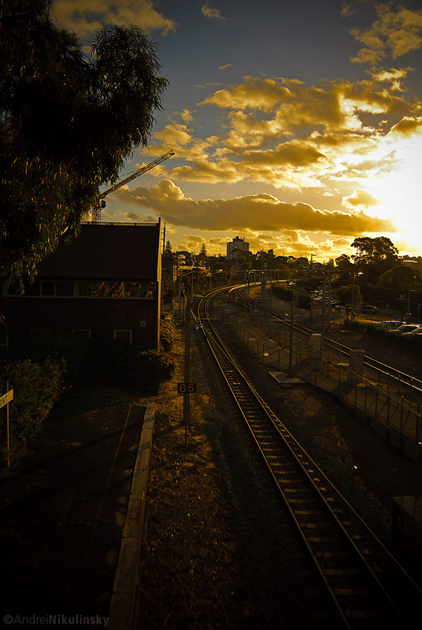 Sunset Over Claremont Train Station