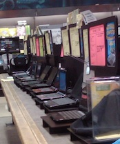 Dozens of Netbooks are now offered at this Fry's Electronics store in Southern California.