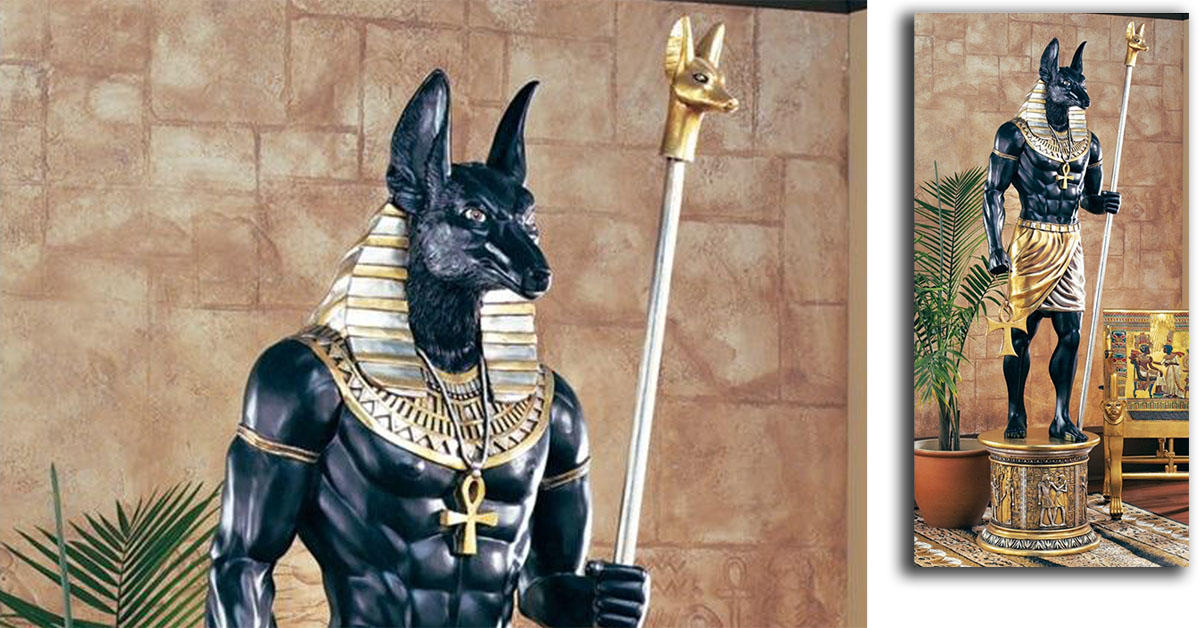 This 8-foot-tall statue of Anubis