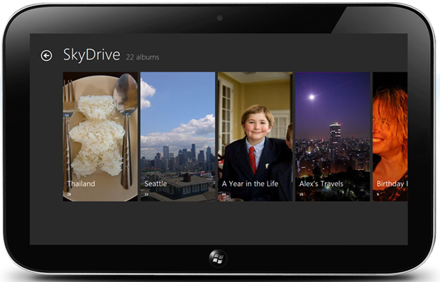 Windows 8 will offer built-in integration with Microsoft's SkyDrive.