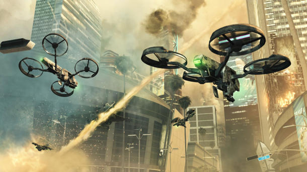 A look at quadrocopters in Call of Duty: Black Ops II.