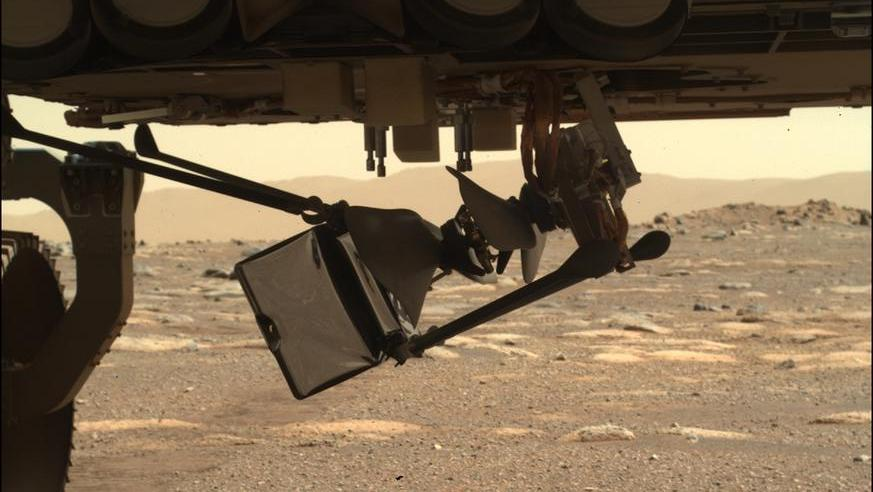 NASA  drops Ingenuity helicopter off on Mars
