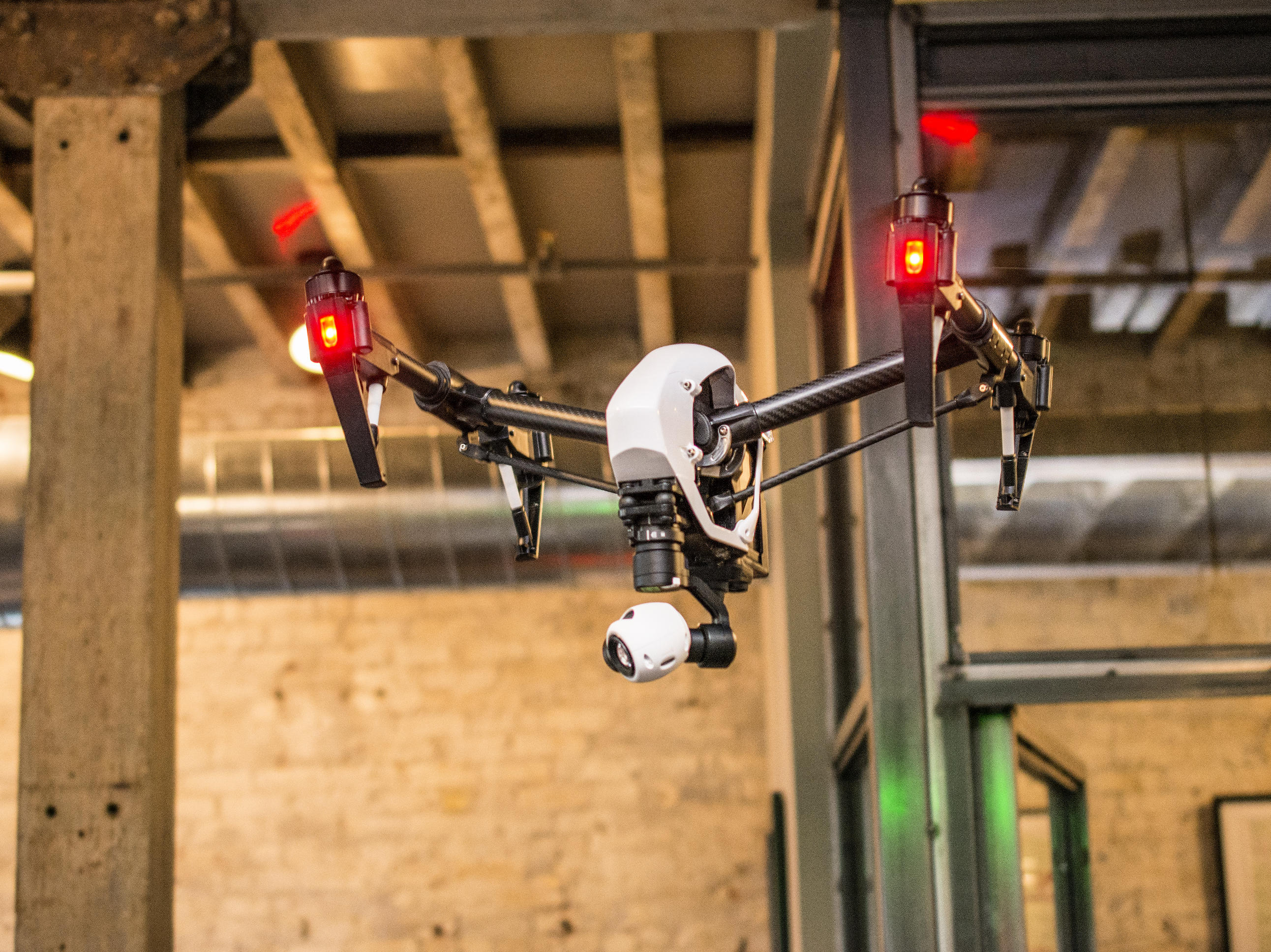 The DJI Inspire has a relatively high-end camera suitable that can take 12-megapixel still images or 4K video.
