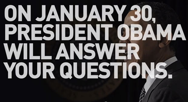 The administration used a YouTube video to tout President Barack Obama's upcoming Google+ discussion with members of the public.