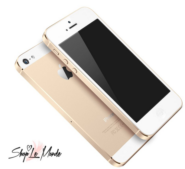 Renderings of a gold or champagne colored iPhone 5S from Shop Le Monde