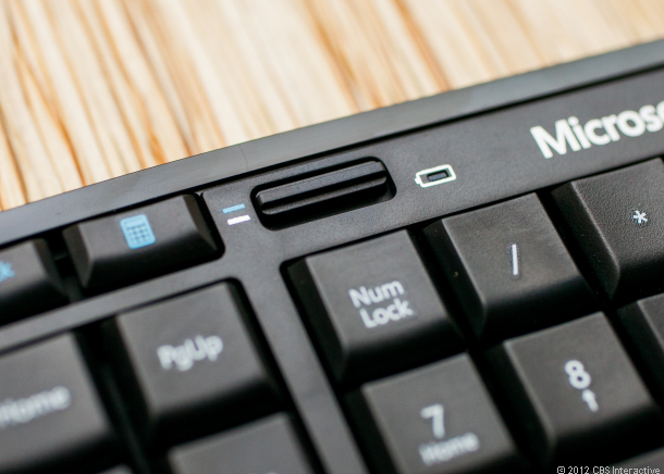 This switch lets you lock the top row of keys into function or hot-key mode.