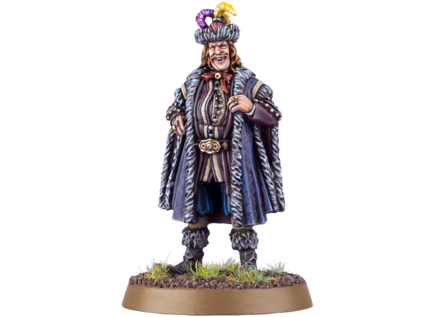"Play as Stephen Fry's Master of Lake-town with this miniature figure for the ""The Hobbit: The Desolation of Smaug"" Strategy Battle Game."