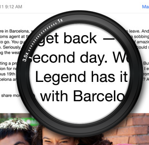 Higher pixel density displays make text appear sharper, as seen here on the iPad.