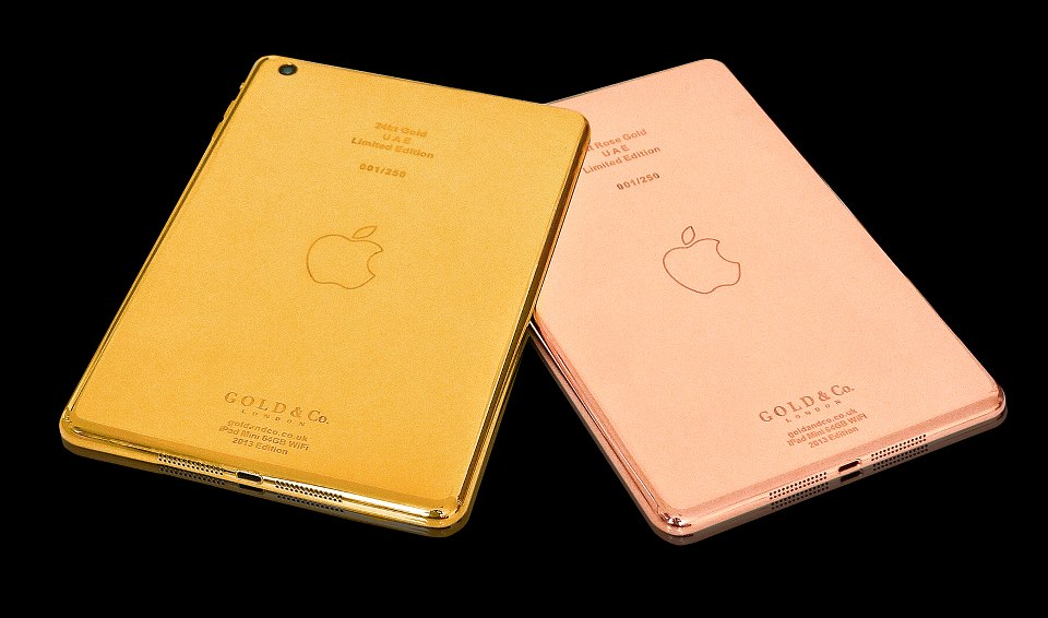 Gold-plated iPad Minis