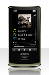 Photo of the Archos 3 portable media player.